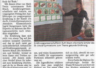 Ruth Rösch - Zeitungsarikel: Abnehmen? Oft reichen schon Kleinigkeiten aus